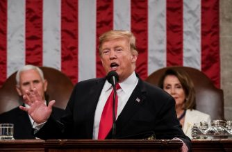 US President Donald Trump delivers the State of the Union address at the US Capitol in Washington, DC, on February 5, 2019. (Photo by Doug Mills / POOL / AFP)