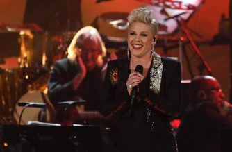 FILES: US singer-songwriter Pink performs at the 2019 MusiCares Person Of The Year gala at the Los Angeles Convention Center in Los Angeles on February 8, 2019. (Photo by Valerie MACON / AFP)