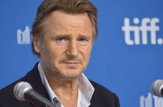 "(FILES) In this file photo taken on September 09, 2013, actor Liam Neeson speaks onstage at ""Third Person"" Press Conference during the 2013 Toronto International Film Festival at TIFF Bell Lightbox on September 10, 2013 in Toronto, Canada. - After sparking a scandal by recalling a racist episode from his distant past, actor Liam Neeson is now battling to save his career -- a task experts predict will be difficult but not impossible. More than 40 years ago, Neeson recently told The Independent of London, he was enraged to learn of a friend's rape by a man she said was black. (Photo by Alberto E. Rodriguez / GETTY IMAGES NORTH AMERICA / AFP)"