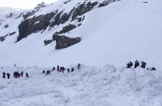 "This handout photograph released by the Swiss Police of Canton of Valais - Police Cantonale Valaisanne -  shows rescuers on the site of a avalanche that left four skiers injured above the ski resort of Crans-Montana in the Swiss Alps on February 19, 2019. - An avalanche left four skiers injured at a resort in the Swiss Alps where rescue operations went on after dark with police fearing people could still be trapped under the snow. (Photo by Handout / POLICE CANTONALE VALAISANNE / AFP) / RESTRICTED TO EDITORIAL USE - MANDATORY CREDIT ""AFP PHOTO /POLICE CANTONALE VALAISANNE "" - NO MARKETING NO ADVERTISING CAMPAIGNS - DISTRIBUTED AS A SERVICE TO CLIENTS ---"