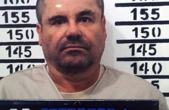 "Handout police photograph of Joaquin Guzman Loera aka ""El Chapo"" taken on January 8, 2016, as he was imprisoned in Almoloya de Juarez, Mexico State. Mexican marines recaptured fugitive drug kingpin Joaquin ""El Chapo"" Guzman on Friday in the northwest of the country, six months after his spectacular prison break embarrassed authorities. AFP PHOTO/OFFICIAL SOURCES (Photo by HO / HO / AFP)"