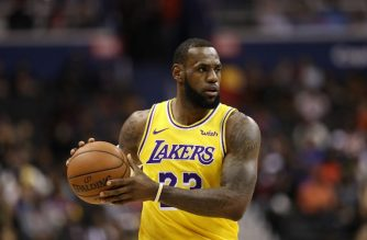 WASHINGTON, DC - DECEMBER 16: LeBron James #23 of the Los Angeles Lakers in action against the Washington Wizards at Capital One Arena on December 16, 2018 in Washington, DC. NOTE TO USER: User expressly acknowledges and agrees that, by downloading and or using this photograph, User is consenting to the terms and conditions of the Getty Images License Agreement.   Patrick Smith/Getty Images/AFP