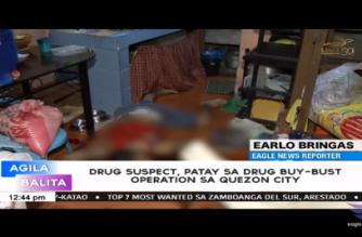 Drug suspek patay sa buy-bust operation sa Quezon City