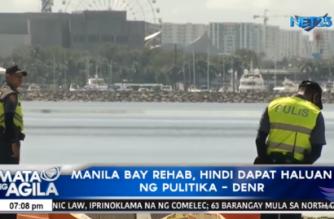 Manila Bay rehab, hindi dapat haluan ng pulitika – DENR