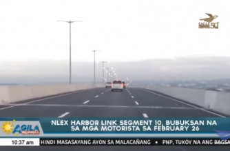 NLEX Harbor Link Segment 10, bubuksan na sa mga motorista sa Pebrero 26