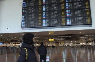 Passengers at Zaventem airport in Brussels react to a slew of cancelled flights, as a national strike closes airports and causes major disruption to railways.   (Photo from AFPTV' Courtesy Agence France Presse)