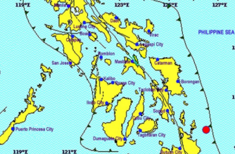 A 4.9-magnitude quake jolted Surigao del Norte on Wednesday, Feb. 13./PHIVOLCS/
