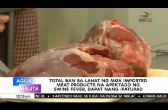 Total ban sa lahat ng imported meat products na apektado ng swine fever, dapat nang ipatupad – AGAP Rep. Briones