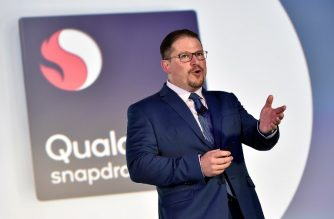 (FILES) In this file photo taken on January 8, 2018 Qualcomm President Cristiano Amon speaks during a Qualcomm press event for CES 2018 at the Mandalay Bay Convention Center  in Las Vegas, Nevada.  US mobile chipmaking giant Qualcomm on February 20, 2018 raised its bid for Dutch rival NXP to an estimated $43 billion as the California-based firm moved to fend off a hostile offer from Singapore's Broadcom.The new bid amounts to $127.50 per NXP share and aims to satisfy NXP shareholders who had expressed concern the Qualcomm bid was too low. / AFP PHOTO / GETTY IMAGES NORTH AMERICA / David Becker