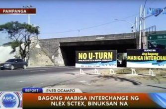 Bagong Mabiga interchange ng NLEX-SCTEX, binuksan na