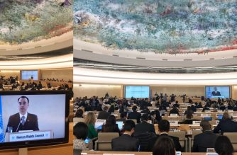 Department of Foreign Affairs Secretary addressed the 37th session of the United Nations Human Rights Council.  (Photo courtesy DFA website)