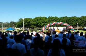 The Iglesia Ni Cristo or Church of Christ held an evangelical outreach mission on Monday, February 19, 2018 in Hawaii where free food, clothes, shoes and other items were also given.  (EBC Hawaii Bureau, Eagle News Service)