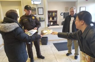 INC members appreciate the efforts of the police in Waldorf, Maryland.