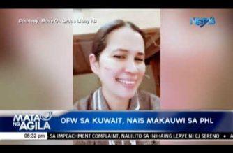 Pilipina OFW sa Kuwait, nais makauwi sa PHL