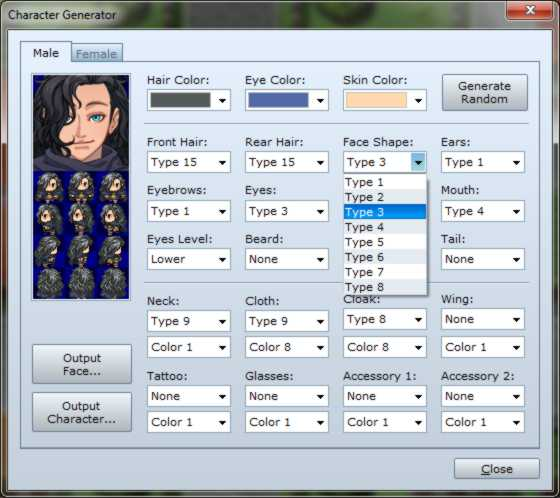 RPG Maker VX Ace Character Generator 01