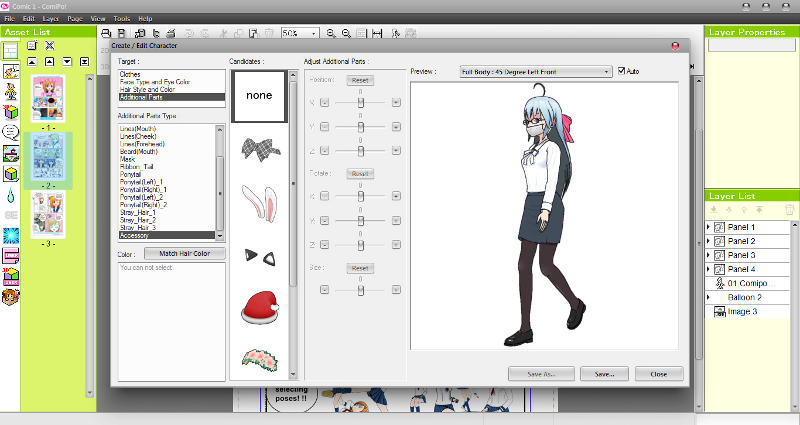 Manga Maker ComiPo! Character Customization