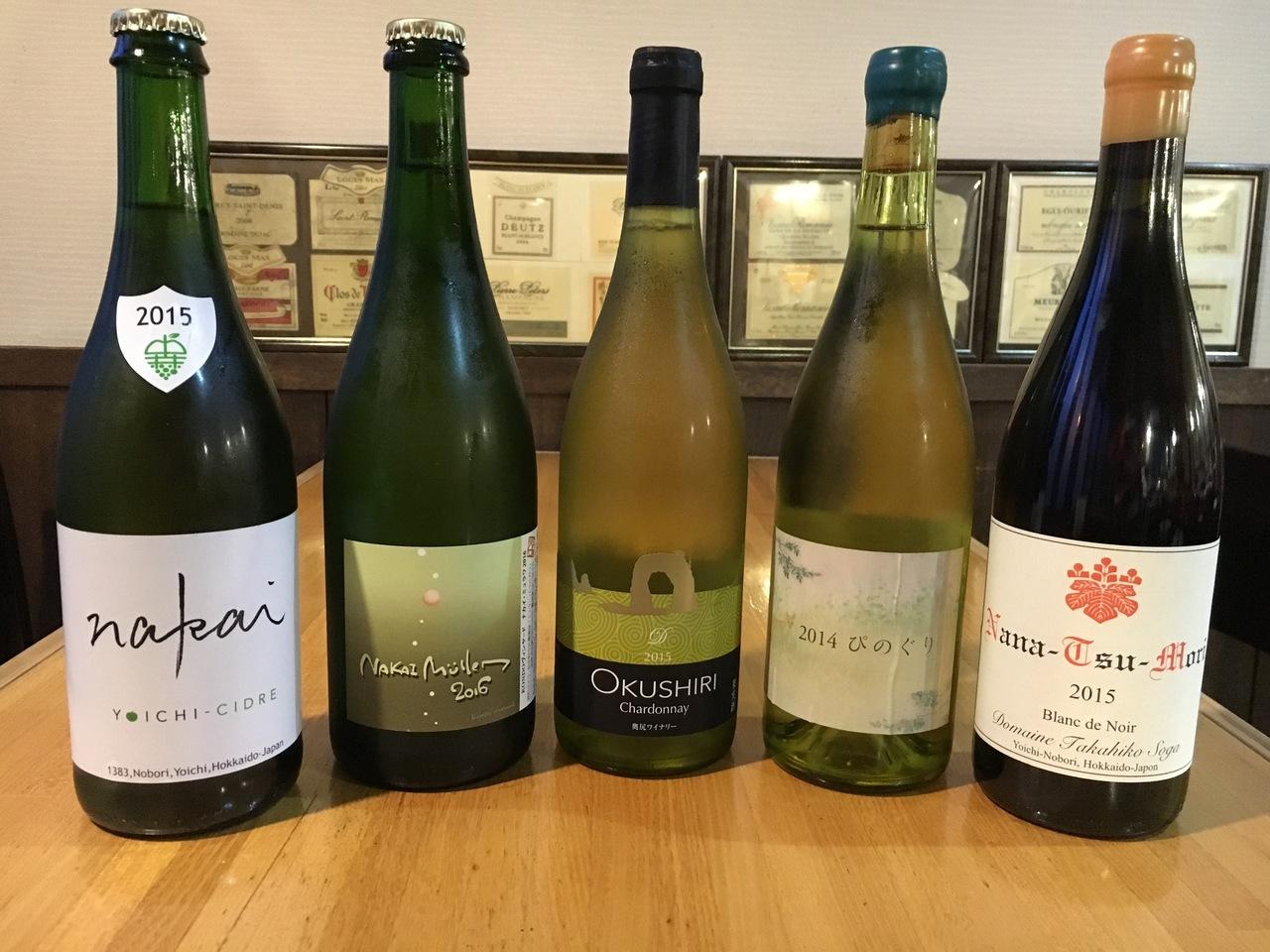 白とオレンジワイン 国産ワイン会 北10条西4レサン (7/15) 札幌