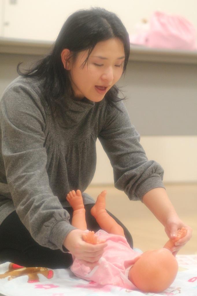着衣ベビーマッサージ・サイン・食育 体験クラス 西区 (10/6) 札幌