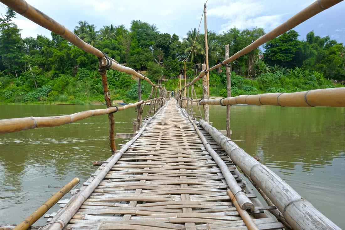 Luang Prabang bambu köprü