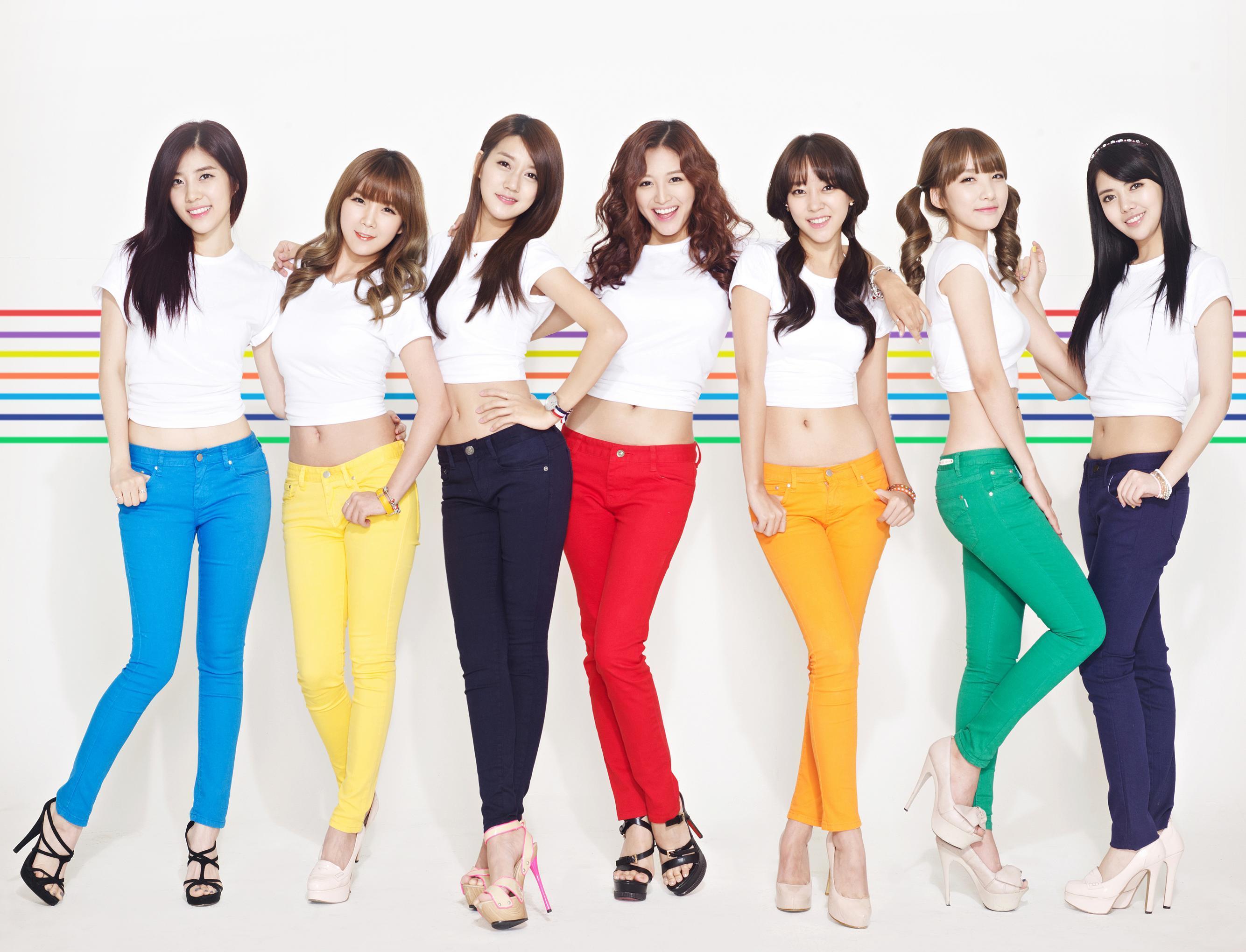 韓国人 美女画像 K-POP RAINBOWプロフィール