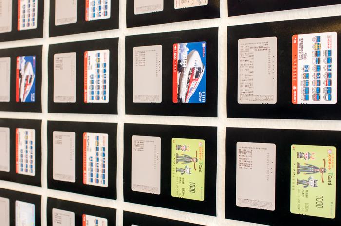 訪問当日は富谷龍樹氏の展示。地下鉄乗車券と乗車履歴