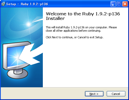 WindowsにRuby on Railsをインストールする (1)Ruby1.9のインストール