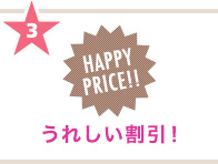 3 HAPPY PRICE!! 5%OFF!