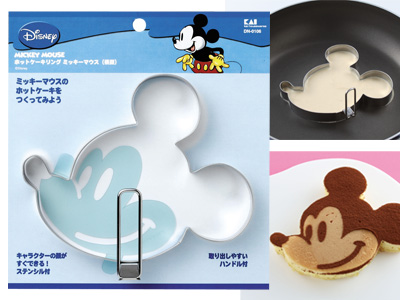 ホットケーキリング ミッキーマウス(横顔)