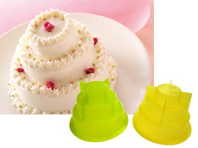 CAKE・MATE シリコーンミニ3段ケーキ型(2個入)