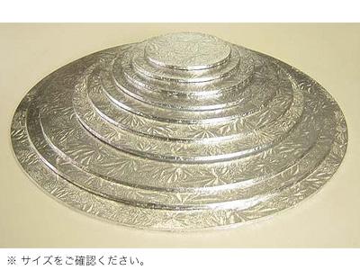 KM ケーキハードボード 丸 銀 14インチ