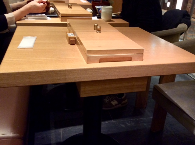 テーブル卓上