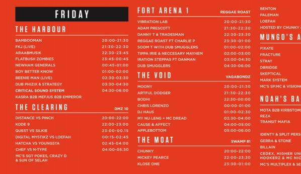 outlook festival 2015 timetable