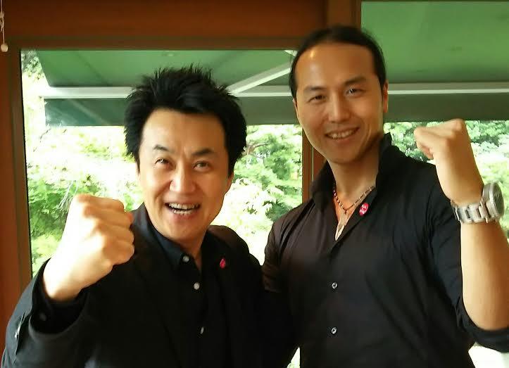 国際文化会館で安河内先生と (1)