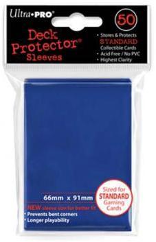 新通常カードゲーム用デッキプロテクター・ハードスリーブ ソリッド 新サイズ91mm×66mm 50枚入り ブルー