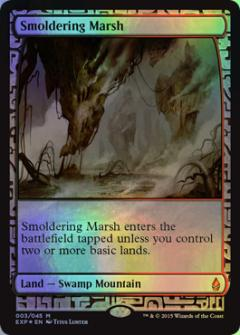 EXP 003 Smoldering Marsh 神話レア(FOIL) Zendikar Expeditions
