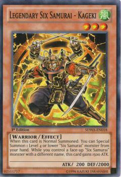 SDWA-EN018 Legendary Six Samurai - Kageki 1st SR