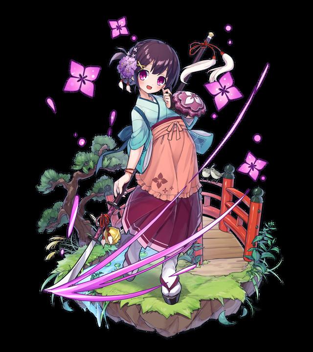 紫花の薙刀士かざの