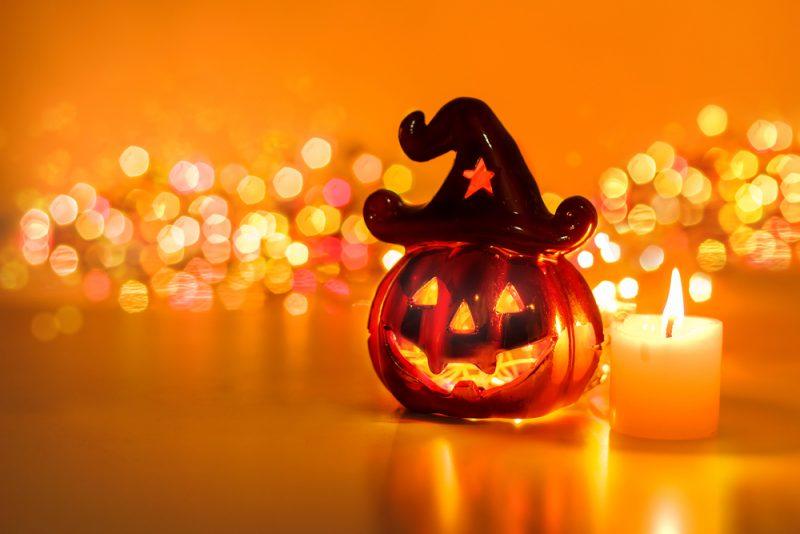かぼちゃのろうそく