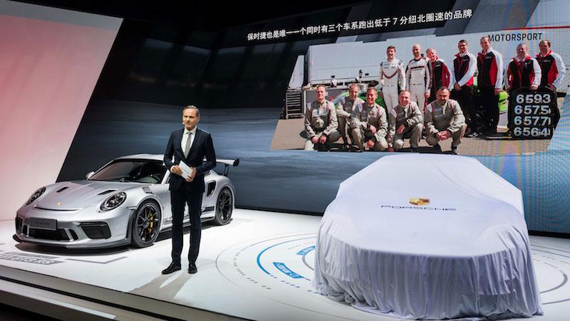 ポルシェ出展ブース 北京モーターショー2018