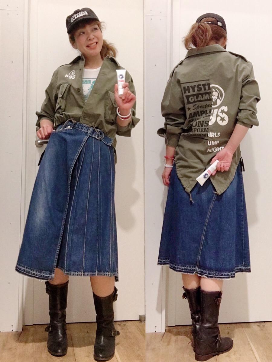 デザインシャツカーキ
