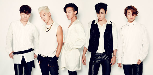 (BIGBANG・左からV.I、SOL、G-DRAGON、T.O.P、D-LITE)