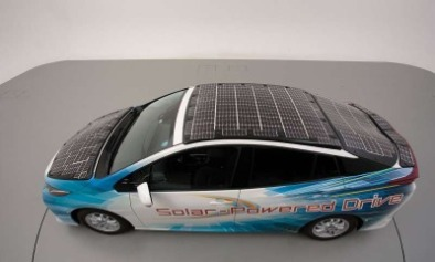 Toyota solar panel car