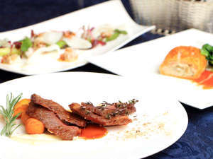 【道産和牛のステーキ】函館モダンな和洋を織り交ぜたフルコース料理&こだわり朝食♪1泊2食付きプラン
