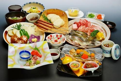 上州牛・やまと豚・赤城鶏等、地場食材にこだわった網焼き料理プラン♪朝食は人気の和洋中バイキング☆