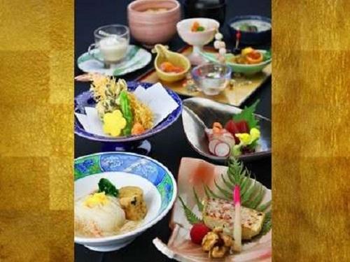 【季節の懐石】無形文化遺産「和食」をリーズナブルに味わう一泊二食付プラン《天然温泉付》
