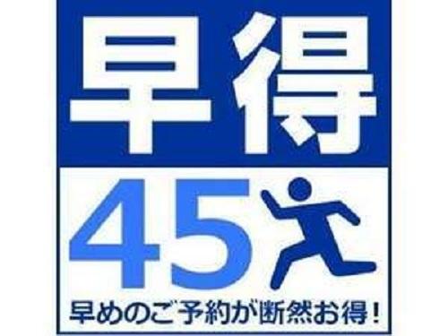 【45日前までの予約がお得!】早割りプラン【早得45】(素泊まり)