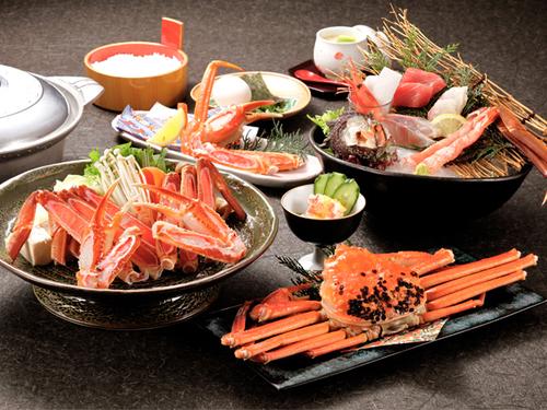 【冬のグルメの王様ずわい蟹を食べ尽くそう!!】ずわい蟹会席