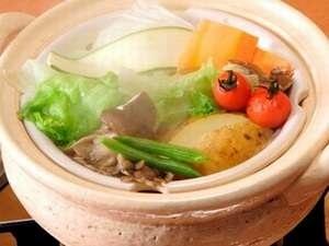 【草食系男子&女子あつまれ!】温泉野菜蒸し&黒烏龍茶でヘルシープラン