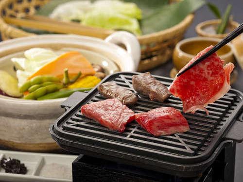 【特選料理】松阪牛鉄板焼&温泉野菜蒸しを味わおう!ワインハーフボトル特典付