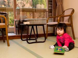 赤ちゃんのお泊りデビューに!赤ちゃんグッズ無料貸出しでパパ・ママ安心♪【お食事はお部屋・個室で】